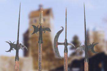 Requisiten angefertigt für die Stadtwache Stolpen e.V.  Hellebarden