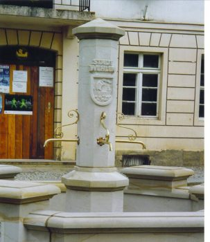 Brunnen in Stadt Wehlen  Speier gefertigt in Bronze 2003